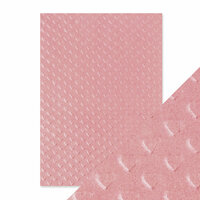Tonic Studios - Hand Crafted Embossed Cotton Paper - A4 -Blush Heartbeat - 5 Pack