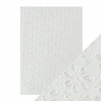 Tonic Studios - Hand Crafted Embossed Cotton Paper - A4 - English Lace - 5 Pack