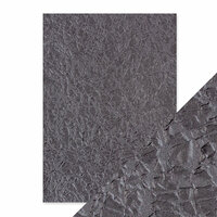 Tonic Studios - Hand Crafted Embossed Cotton Paper - A4 - Crushed Metal - 5 Pack