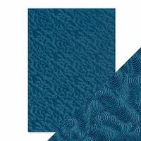 Tonic Studios - Hand Crafted Embossed Cotton Paper - A4 - Deep Sea Dive - 5 Pack