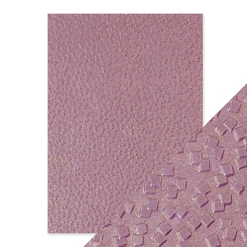 Tonic Studios - Hand Crafted Embossed Cotton Paper - A4 - Falling Glitter - 5 Pack
