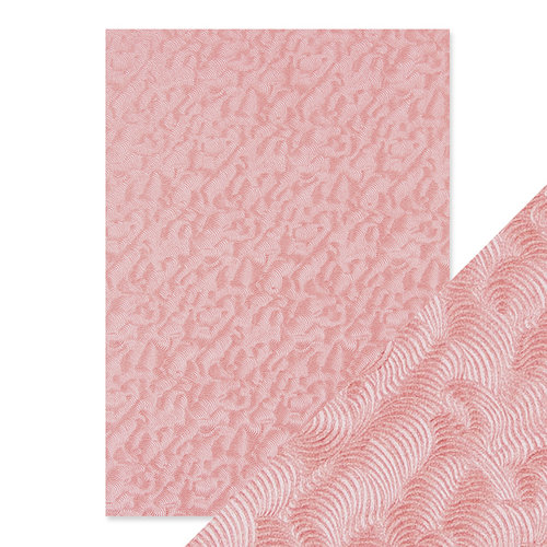 Tonic Studios - Hand Crafted Embossed Cotton Paper - A4 - Pink Champagne - 5 Pack