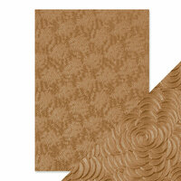 Tonic Studios - Hand Crafted Embossed Cotton Paper - A4 - Warm Dahlia - 5 Pack