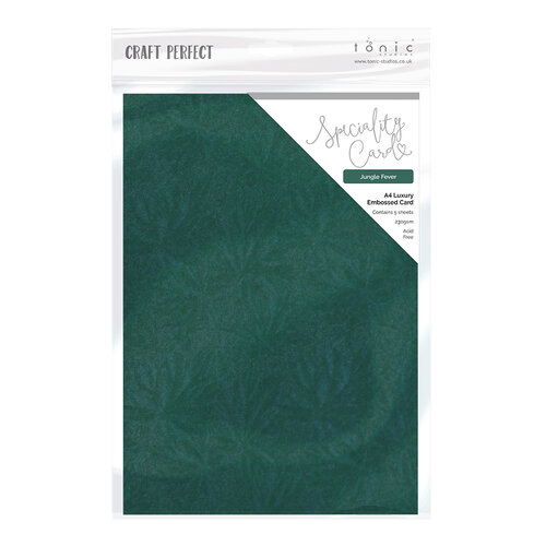 Tonic Studios - Tropical Paradise Collection - Craft Perfect - Specialty Card - 8.5 x 11 Paper - Jungle Fever