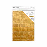 Tonic Studios - Woodland Walk Collection - Craft Perfect - Hand Crafted Cotton Paper - A4 - Yellow Bamboo - 5 Pack