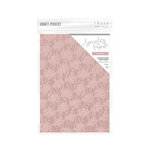 Tonic Studios - Blue Blossom Collection - Craft Perfect - Hand Crafted Cotton Paper - A4 - Pink Petals