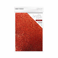 Tonic Studios - Merry and Bright Collection - Craft Perfect - Hand Crafted Cotton Paper - A4 - Ruby Gemstone