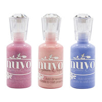 Nuvo - Blue Blossom Collection - Glitter and Crystal Drops - 3 Pack Set