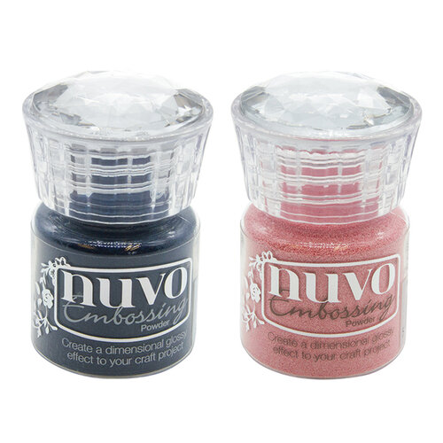 Nuvo - Blue Blossom Collection - Embossing Powder - 2 Pack Set