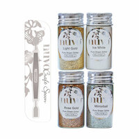 Nuvo - Craft Spoon and Pure Sheen Glitter - Golden Years - 5 Pack Set