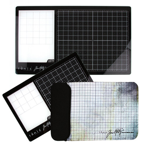 Tonic Studios - Tim Holtz - Left Handed Glass Media Mats Bundle