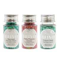 Nuvo - Merry and Bright Collection - Pure Sheen Confetti and Sequins - 3 Pack Set