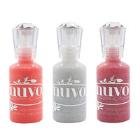 Nuvo - Merry and Bright Collection - Glitter and Crystal Drops - 3 Pack Set