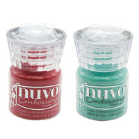 Nuvo - Merry and Bright Collection - Embossing Powder - 2 Pack Set
