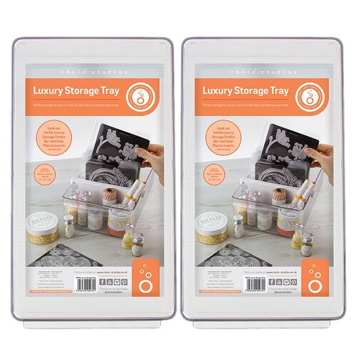 Tonic Studios - Luxury Storage Collection - Clear Tray - 2 Pack