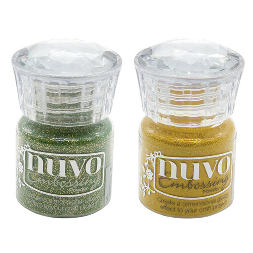 Nuvo - Woodland Walk Collection - Glitter Embossing Powder - 2 Pack Set