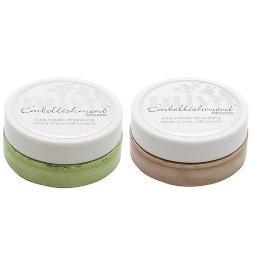 Nuvo - Woodland Walk Collection - Embellishment Mousse - 2 Pack Set