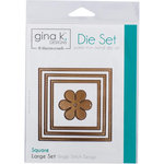 Therm O Web - Nested Die Sets - Single Stitch - Square - Large