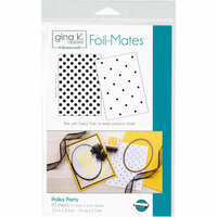 Gina K Designs - Foil-Mates - 5.5 x 8.5 - Background - Polka Party