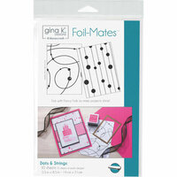 Gina K Designs - Foil-Mates - 5.5 x 8.5 - Background - Dots and Strings