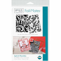 Gina K Designs - Foil-Mates - 5.5 x 8.5 - Background - Swirls and Flourishes