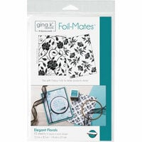 Gina K Designs - Foil-Mates - 5.5 x 8.5 - Background - Elegant Florals