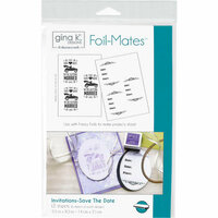Gina K Designs - Foil-Mates - 5.5 x 8.5 - Invitations - Save The Date