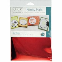 Gina K Designs - Fancy Foils - 6 x 8 - Red Velvet