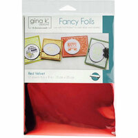 Therm O Web - Fancy Foils - 6 x 8 - Red Velvet