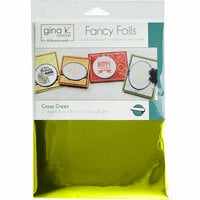 Gina K Designs - Fancy Foils - 6 x 8 - Grass Green