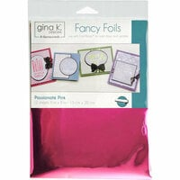 Gina K Designs - Fancy Foils - 6 x 8 - Passionate Pink
