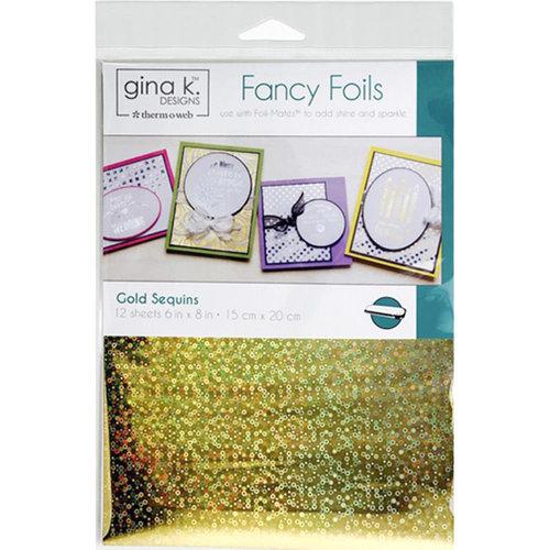 Gina K Designs - Fancy Foils - 6 x 8 - Gold Sequins