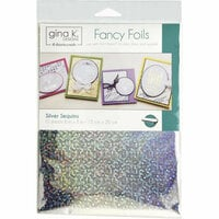 Gina K Designs - Fancy Foils - 6 x 8 - Silver Sequins