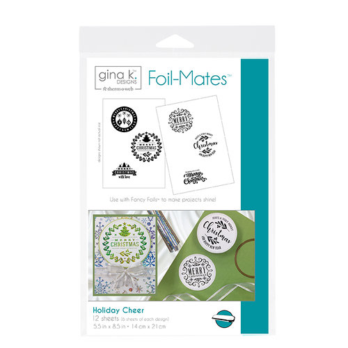 Gina K. Designs Foil-Mates™ Sentiments • Holiday Cheer