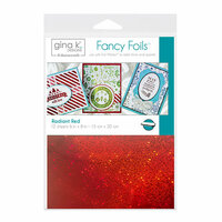 Gina K Designs - Fancy Foils - 6 x 8 - Radiant Red