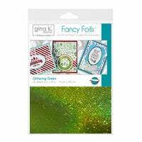 Gina K Designs - Fancy Foils - 6 x 8 - Glittering Green