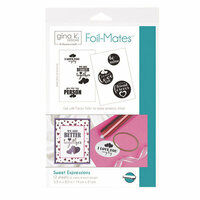 Therm O Web - Foil-Mates - 5.5 x 8.5 - Sentiments - Sweet Expressions