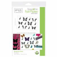 Therm O Web - Stamp n Foil - Foil-Mates - 5.5 x 8.5 - Butterfly Kisses