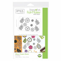 Therm O Web - Stamp n Foil - Foil-Mates - 5.5 x 8.5 - Where Flowers Bloom