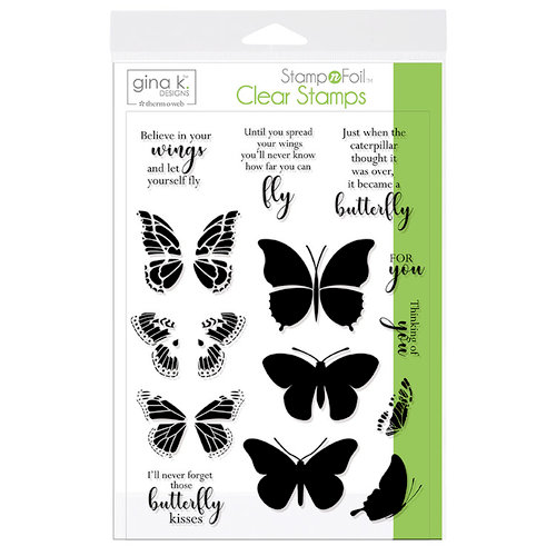 Therm O Web - Stamp n Foil - Clear Acrylic Stamps - Butterfly Kisses
