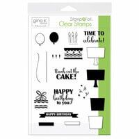 Gina K Designs - Stamp n Foil - Clear Acrylic Stamps - Time to Celebrate