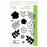 Gina K Designs - Stamp n Foil - Clear Acrylic Stamps - Where Flowers Bloom