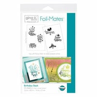 Therm O Web - Foil-Mates - 5.5 x 8.5 - Sentiments - Birthday Bash