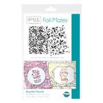 Therm O Web - Foil-Mates - 5.5 x 8.5 - Background - Bountiful Flourish