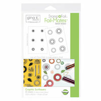 Therm O Web - Stamp n Foil - Foil-Mates - 5.5 x 8.5 - Graphic Sunflowers