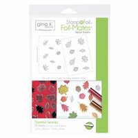 Therm O Web - Stamp n Foil - Foil-Mates - 5.5 x 8.5 - Thankful Leaves