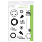 Therm O Web - Stamp n Foil - Clear Acrylic Stamps - Graphic Sunflowers