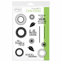 Gina K Designs - Stamp n Foil - Clear Acrylic Stamps - Graphic Sunflowers