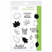 Gina K Designs - Stamp n Foil - Clear Acrylic Stamps - Thankful Leaves