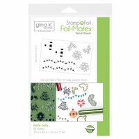 Therm O Web - Christmas - Stamp n Foil - Foil-Mates - 5.5 x 8.5 - Holly Jolly